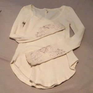 FREE PEOPLE cream colored top